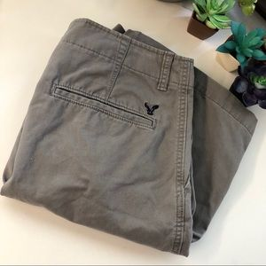 Men's American Eagle khaki/gray shorts size 34